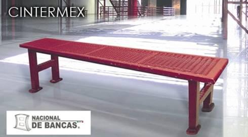 Bancas para Cintermex: Jardines de estilo moderno por Nacional de Bancas
