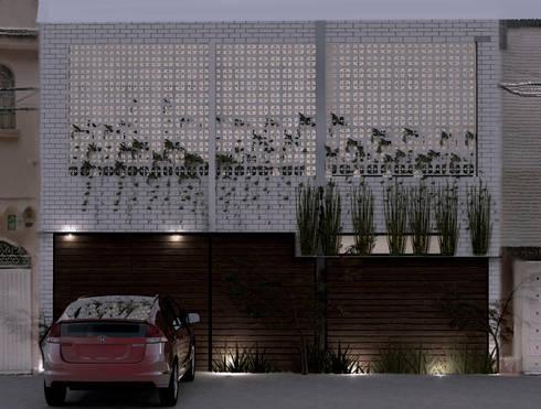 Casa Tacuba: Casas de estilo moderno por Colectivo IA02