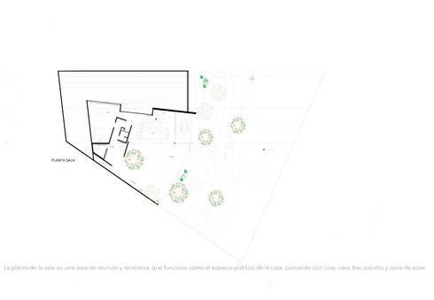Casa Ladera: Casas de estilo moderno por Colectivo IA02