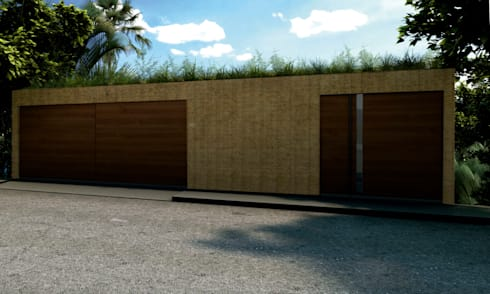 Casa Molina: Casas de estilo moderno por Colectivo IA02