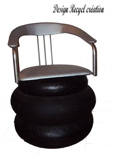 Fauteuil tires: Maison de style  par Design Recycl
