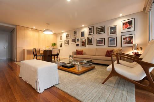 Apartamento Pinheiros : Salas de estar modernas por Arquitetura Juliana Fabrizzi