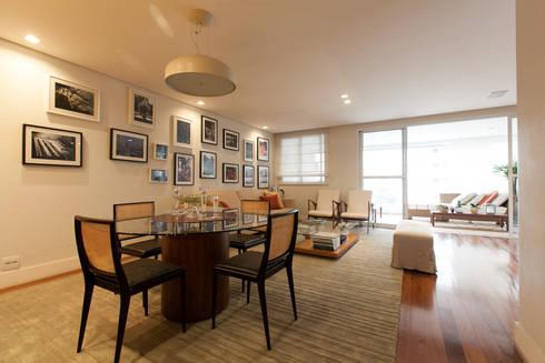 Apartamento Pinheiros : Salas de jantar modernas por Arquitetura Juliana Fabrizzi