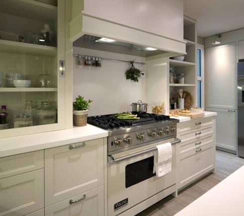 Cocina de dise o atemporal de deulonder arquitectura for Cocinas rectas modernas