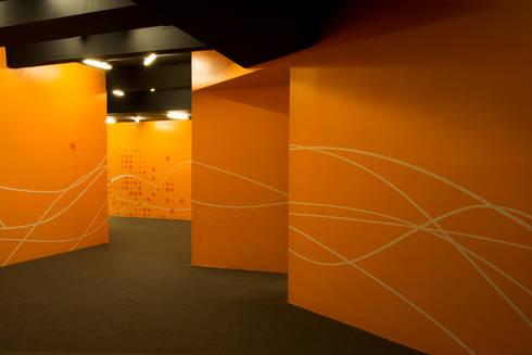 Oficinas Emi Music · Buenos Aires · Paula Herrero | Arquitectura: Paredes de estilo  por Paula Herrero | Arquitectura