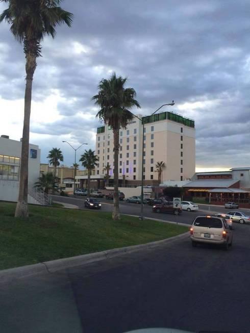 Jardines Verticales y Paisajismo Holiday Inn Express and Suites Chihuahua Mexico: Terrazas de estilo  por MuchoVerde.mx
