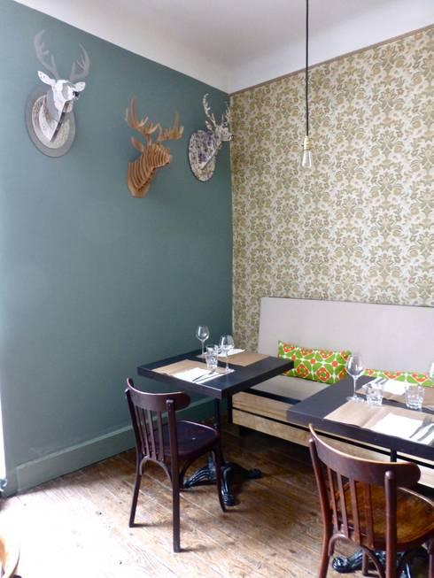 Papier peint vintage: Restaurants de style  par Nhomeade
