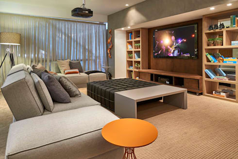 Decora Lider Campinas – Home theater: Salas de estar modernas por Lider Interiores