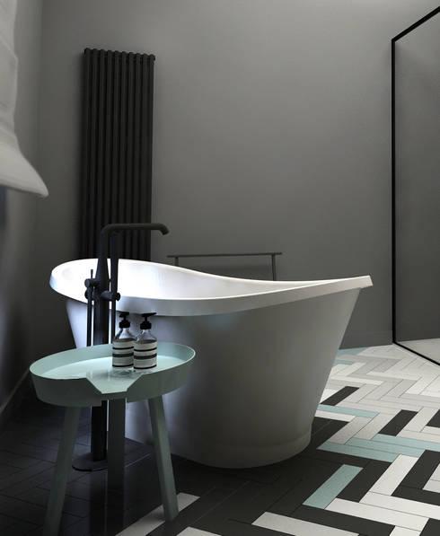 Baños de estilo  por KOZIEJ ARCHITEKCI