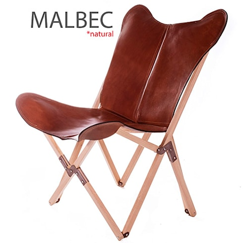 Tripolina Natural Haya Wooden Frame with Polo Malbec leather cover:  de estilo  por Big BKF Buenos Aires