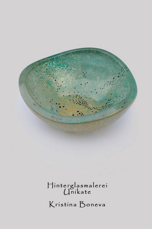 Hinterglasmalerei - Schale: ausgefallene Esszimmer von Kristina Boneva - Unikate