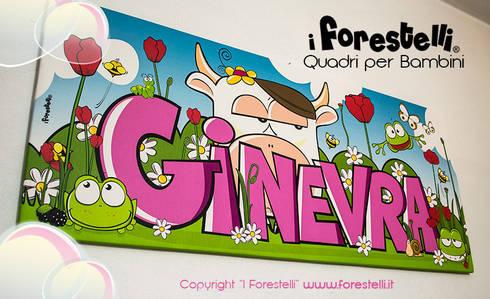 Le forestele quadri personalizzati per bambini di i forestelli homify - Quadri per camera bambini ...