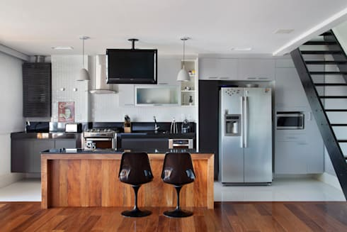 Cobertura Barra: Cozinhas modernas por ASP Arquitetura
