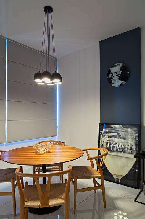 AP 401: Salas de jantar modernas por Lucas Lage Arquitetura