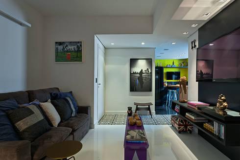 AP 401: Salas de estar modernas por Lucas Lage Arquitetura