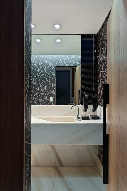 Projekty,  Łazienka zaprojektowane przez Lucas Lage Arquitetura
