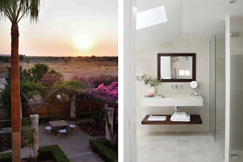 Hotel in Mallorca Cal Reiet / The Main house : Baños de estilo mediterráneo de Bloomint design