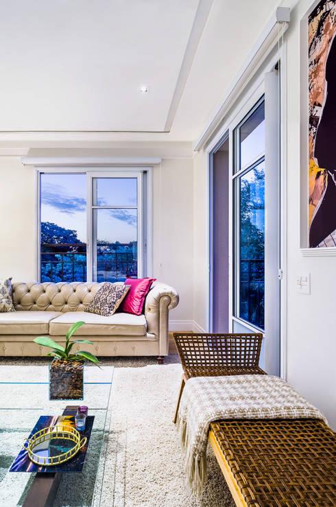 Apartamento City Boaçava: Salas de estar modernas por Studio ML