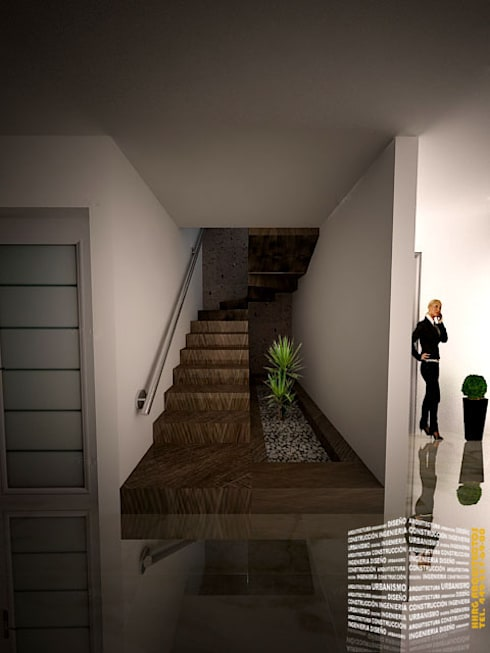 escalera con jardinera
