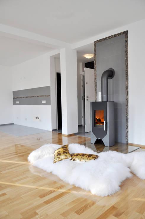 Wohnbereich im behaglichen 60 m² Apartment zu mieten:   von Die Design Fabrik