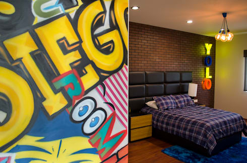 INTERIORISMO RESIDENCIAL: Recámaras de estilo moderno por DOS TINTAS Home&Decor