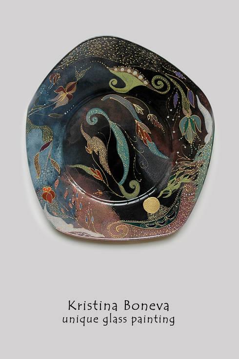 Unikat Hinterglasmalerei - Schale:  Kunst  von Kristina Boneva - Unikate