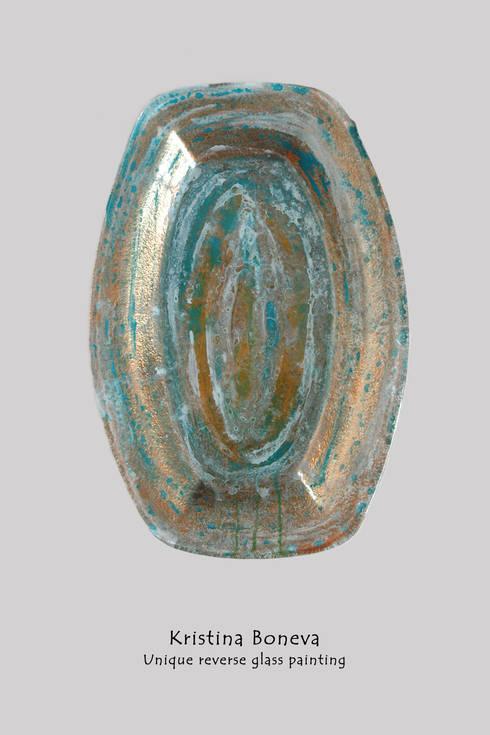 Unikat Teller (Schale) - Hinterglasmalerei:  Kunst  von Kristina Boneva - Unikate