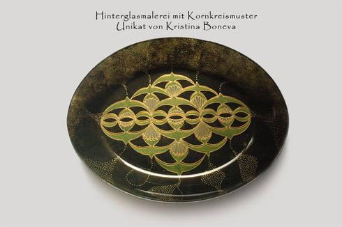 Kornkreis - Muster - Energieschale:  Kunst  von Kristina Boneva - Unikate