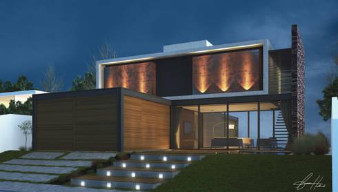 Casa do alto: Casas modernas por Lucas Buarque de Holanda Arquiteto
