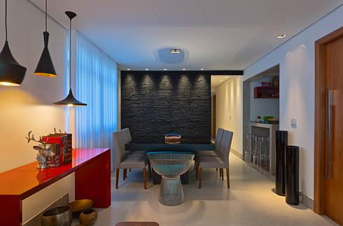 AP VN601: Salas de jantar modernas por Lucas Lage Arquitetura