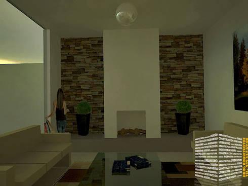 SALA CLASICA: Salas de estilo clásico por HHRG ARQUITECTOS