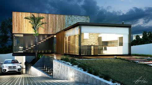 Prisma 2: Casas modernas por Lucas Buarque de Holanda Arquiteto
