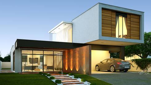 Residência Macapá: Casas modernas por Lucas Buarque de Holanda Arquiteto