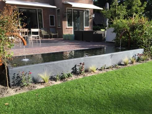 Strakke vijver in tuin bloemendaal door biesot homify for Vijver in tuin