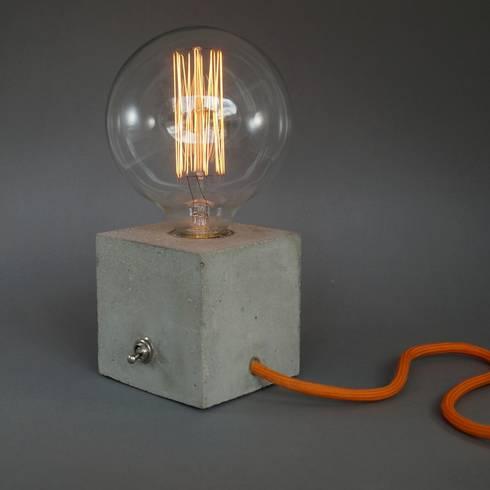 betonlampe tischlampe cubo von homify. Black Bedroom Furniture Sets. Home Design Ideas