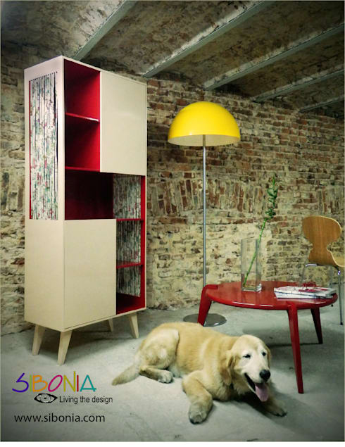 Aparador Sissi y mesa ratona Fusée: Livings de estilo moderno por Sibonia
