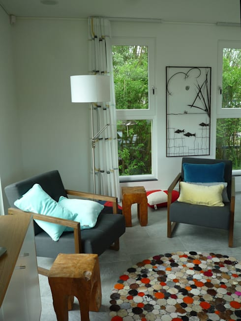 Projekty,  Salon zaprojektowane przez Architectenbureau Rutten van der Weijden