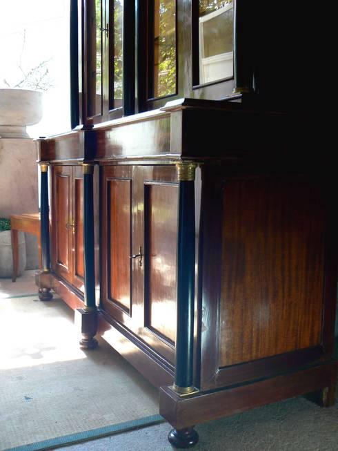 biedermeier - empire bücherschrank - bibliothek um 1820 von, Wohnzimmer