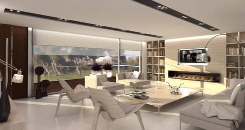 Vivienda Carilo Pzy Arch Interior:  de estilo  por Estudio JP