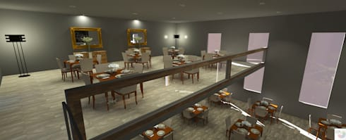 Restaurante Sofisticado: Bares e clubes  por Rangel & Bonicelli Design de Interiores Bioenergético