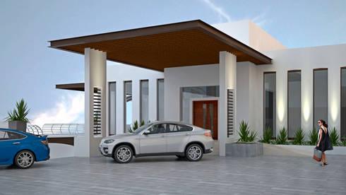 CASA SAAVEDRA: Casas de estilo minimalista por Design Arquitectos