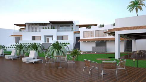 CASA SAAVEDRA: Jardines de estilo moderno por Design Arquitectos