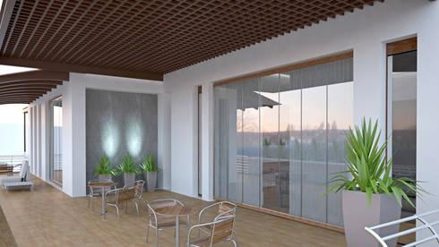 CASA SAAVEDRA: Terrazas de estilo  por Design Arquitectos