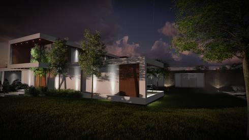 Sector deborde: Casas de estilo moderno por A.CCS estudio de arquitectura