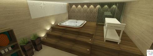 SPA: Spas modernos por Rangel & Bonicelli Design de Interiores Bioenergético