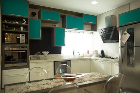 RESIDÊNCIA A.D: Cozinha  por BOULEVARD ARQUITETURA
