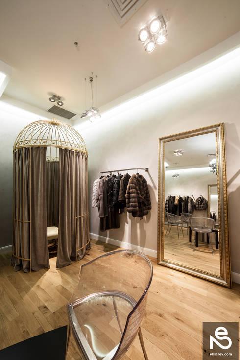 Vestidores y closets de estilo  por Studio Eksarev & Nagornaya