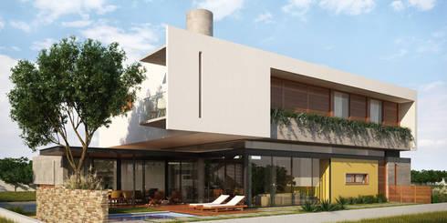 Casa IF: Casas modernas por Martins Lucena Arquitetos