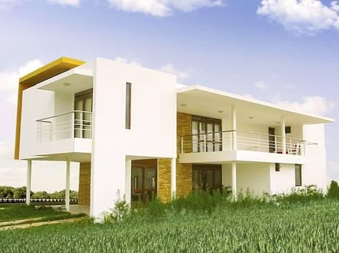 Casa Gerson: Casas modernas por Martins Lucena Arquitetos