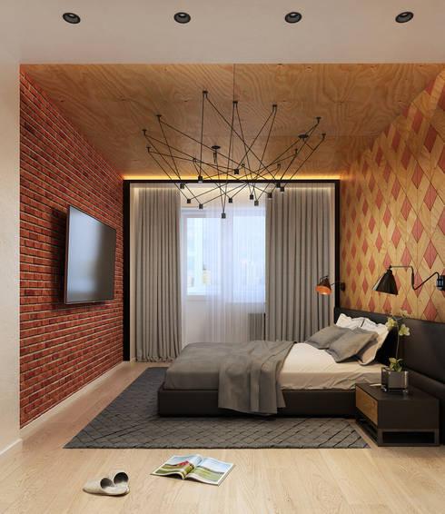 Projekty,  Sypialnia zaprojektowane przez Домрачева Екатерина